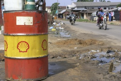 Shell barrel in Port Harcourt.