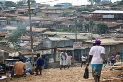A Kenyan slum community, one of the continent's largest.