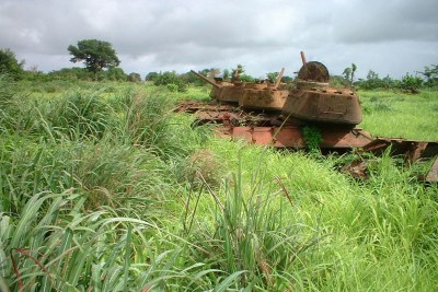 Remnants of Guinea-Bissau's 1998-1999 civil war.