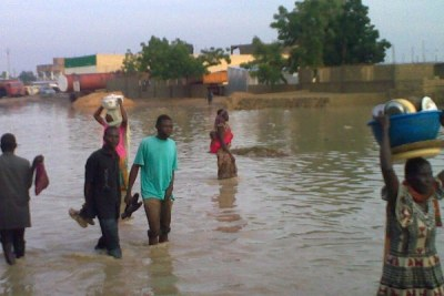 August 2009 flooding in the Chad capital N'djamena.