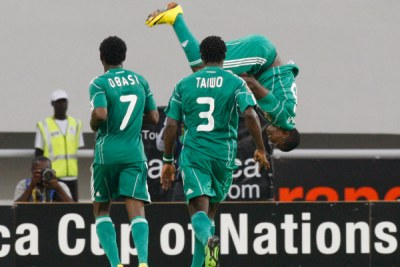 The Super Eagles at an African Cup of Nations match.