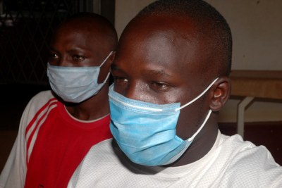 TB patients await treatment at Mulago Hospital in Uganda.