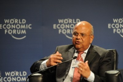 South Africa's Finance Minister, Pravin Gordhan, captured at the World Economic Forum on Africa held in Dar es Salaam, Tanzania. (file photo)