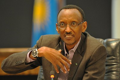 President Paul Kagame (file photo).