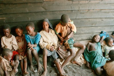 Rwandan children, refugees of the 1994 genocide (file photo).