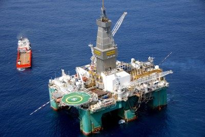 An oil rig off Ghana: Could Namibia be the next African country to develop a new oil industry?