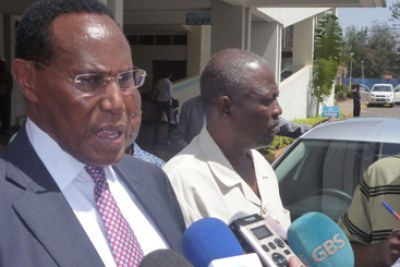 The crash claimed the lives of Internal security minister George Saitoti(pictured), his assistant Orwa Ojode, two bodyguards and two pilots.