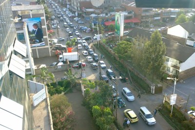 Traffic in the streets of Nairobi.