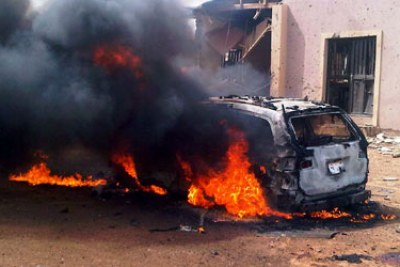 Bauchi church blast scene.