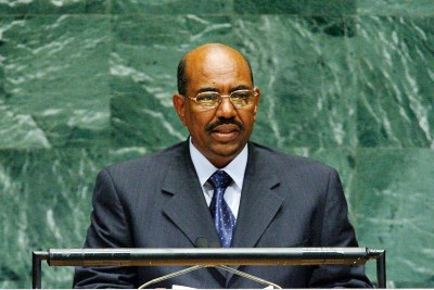 Omar al-Bashir addressing the UN (file photo).