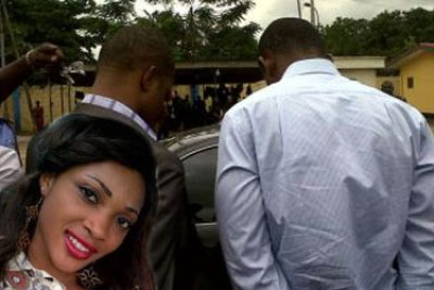 Late Cynthia-Osokogu and back view of the suspected killers when they were paraded .