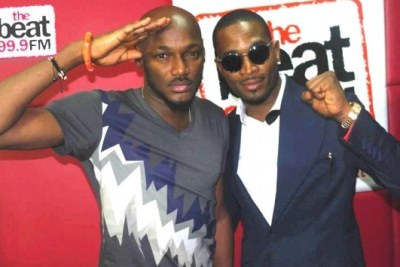 2face Idibia and D'banj