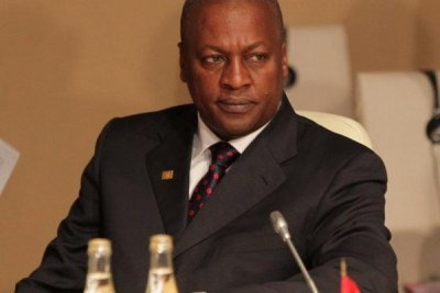 President John Dramani Mahama of Ghana is the candidate of the National Democratic Congress in the 2012 elections.