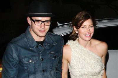 Justin Timberlake (left) and Jessica Biel (right) (file photo).