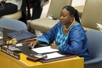 International Criminal Court (ICC) prosecutor Fatou Bensouda addresses the Security Council.