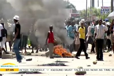 Violent protests in Sasolburg, Free State.