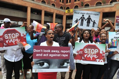 South Africans campaigning against sexual violence.