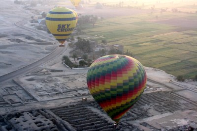 Hot air balloon ride in Luxor, Egypt (file photo).