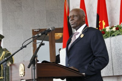 President Jose Eduardo Dos Santos during his 2012 inauguration.