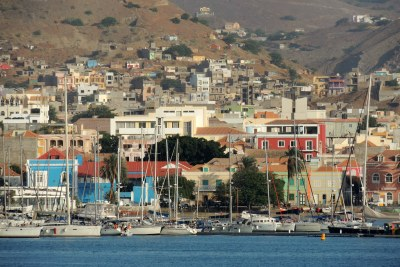 Port in Mindelo Cape Verde.