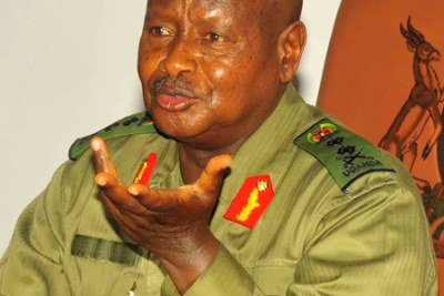 President Yoweri Museveni ready to assent to the Anti-Homosexuality Bill (file photo).