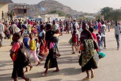 Civilians Seek Protection after Fighting in Juba.