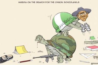 Nigeria on the search for the Chibok schoolgirls.