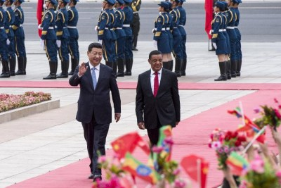 Chinese President Xi Jinping and Ethiopian President Mulatu Teshome (file photo).
