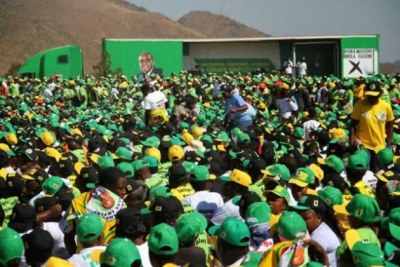 Zanu-PF supporters gather for the congress in Harare