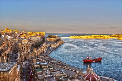 The streets and coast of Valletta, the capital city of Malta.