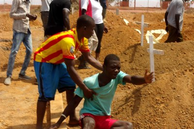 Mourning the dead: Liberia is the country hardest hit by the most recent outbreak.