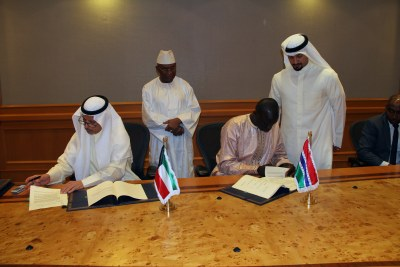 The Loan Agreement was signed by H.E. Abdou kooly - Minister of Finance and Economy , from The Gambia, who also signed the Project Administration Agreement together with Mr. Dawada Samba Sovv ,on behalf of Gambia River Basin Development Organization.