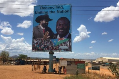 Salva Kiir and rebel leader Riek Machar