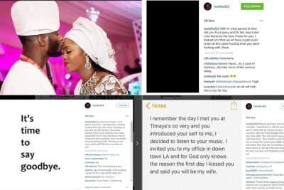 TeeBillz declares he is done with Tiwa Savage.