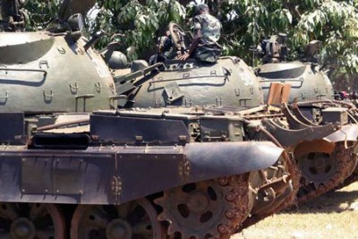 Uganda's military tanks at the Kololo show grounds (file photo)