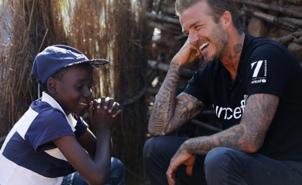 UNICEF Goodwill Ambassador David Beckham Visits Swaziland to Focus Attention on Children
