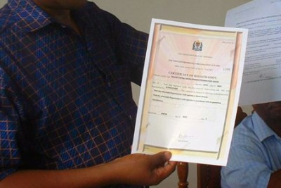 A school certificate (file photo).
