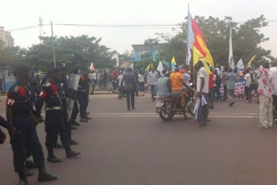 A protest in Kinshasa (file photo).