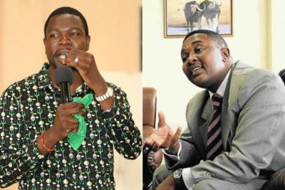Prophetic Healing and Deliverance Ministries leader, Prophet Walter Magaya and Tourism and Hospitality Industry Minister Walter Mzembi.