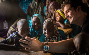 Orlando Bloom Visits Children Affected by Boko Haram Violence