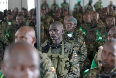 UPDF soldiers in Somalia.