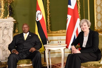 President Museveni meets UK's Theresa May over South Sudan, Somalia conflicts.