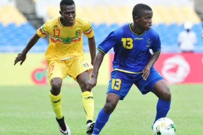 Serengeti boys battling defending champions Mali in their U-17 Africa Cup of Nations Group B game at Stade de l'Amitie Sino in Libreville, Gabon.