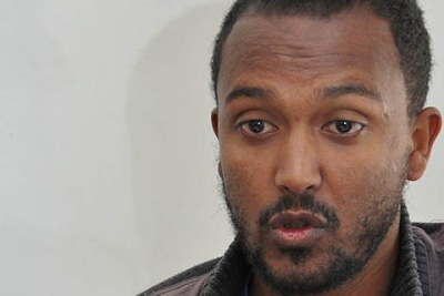 Yonatan Tesfaye, former opposition Blue Party public relations chief (file photo).