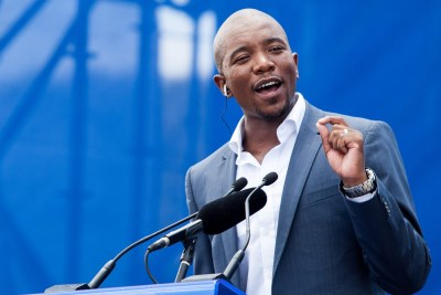 Mmusi Maimane, leader of the official opposition Democratic Alliance.