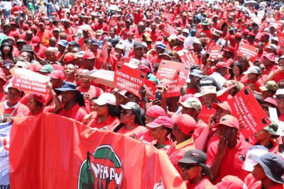 National Education Health and Allied Workers' Union workers (file photo).