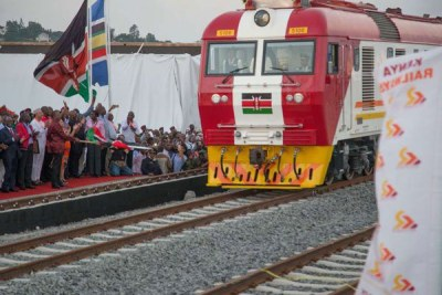 Cargo freight services of the standard gauge railway at the Port Reitz station in Mombasa (file photo).