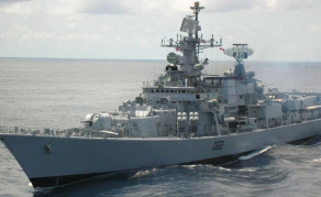 Indian Naval Ship on Manoeuvres in Nigeria