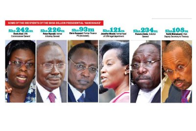 Some of the recipients of the Shs6 billion presidential