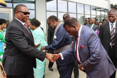 President Peter Mutharika and former minister of agriculture George Chaponda (file photo).